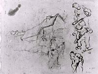 Sketches of a Cottage and Figures, 1890, vangogh