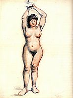 Standing Female Nude Seen from the Front, 1886, vangogh