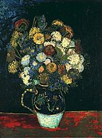 Still Life Vase with Zinnias, 1888, vangogh
