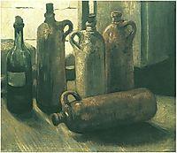 Still Life with Five Bottles, 1884, vangogh