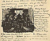 Three Persons Sitting at the Window, 1885, vangogh