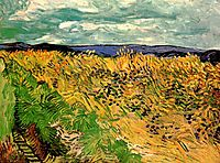 Wheat Field with Cornflowers, 1890, vangogh