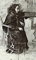 Woman in a Dark Dress (Sien-s Mother), 1882, vangogh