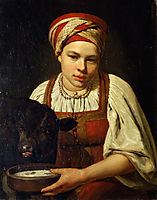 A Peasant Girl with a Calf, venetsianov
