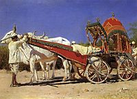 Vehicle of rich people in Delhi, 1875, vereshchagin