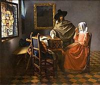 The glass of wine, c.1660, vermeer