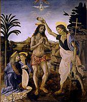 The Baptism of Christ, c.1475, verrocchio