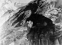 Demon looking to the valley, c.1891, vrubel