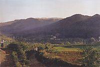 Mountain landscape with vineyard , 1862, waldmuller