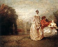 Two Cousins, c.1716, watteau