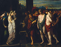 Pylades and Orestes Brought as Victims before Iphigenia, 1766, west