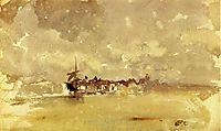 Gold and Grey: the Sunny Shower - Dordrecht, 1884, whistler