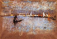 The guidecca Winter Grey and Blue, 1879, whistler
