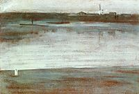 Symphony in Grey: Early Morning, Thames, c.1871, whistler