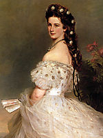Empress Elisabeth of Austria in dancing dress, 1865, winterhalter