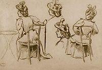 Study of figures, 1895, zandomeneghi