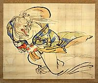 The Ibaraki Demon Snatches Back Her Arm, 1840, zeshin